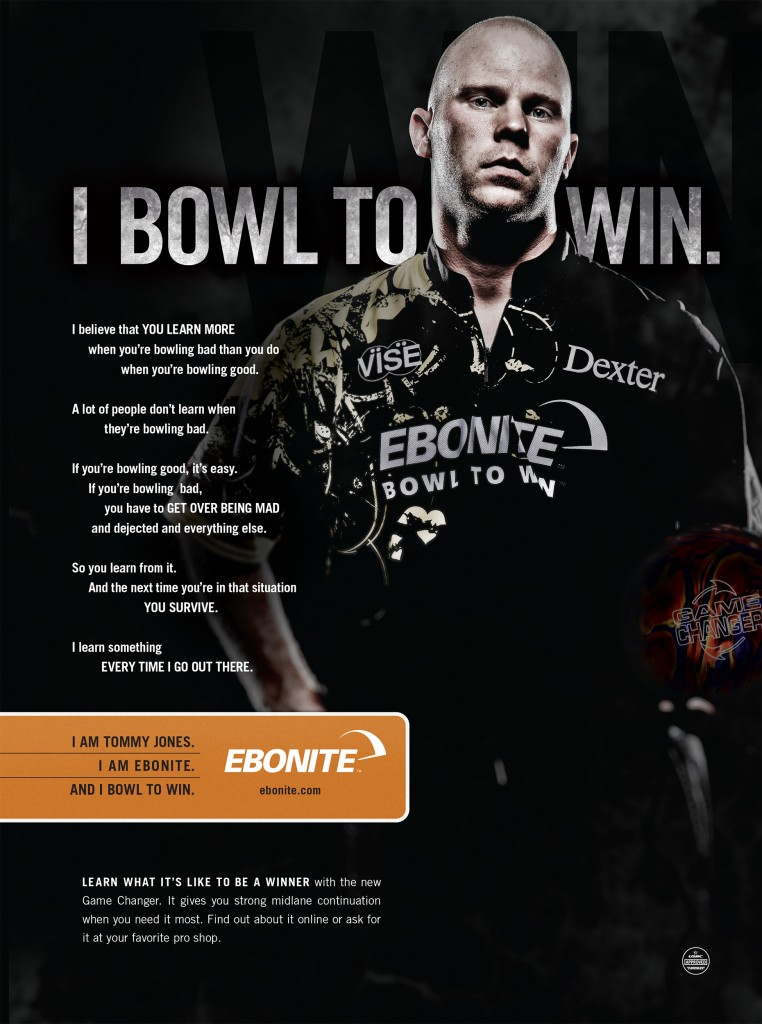 Ebonite Ad Tommy Jones