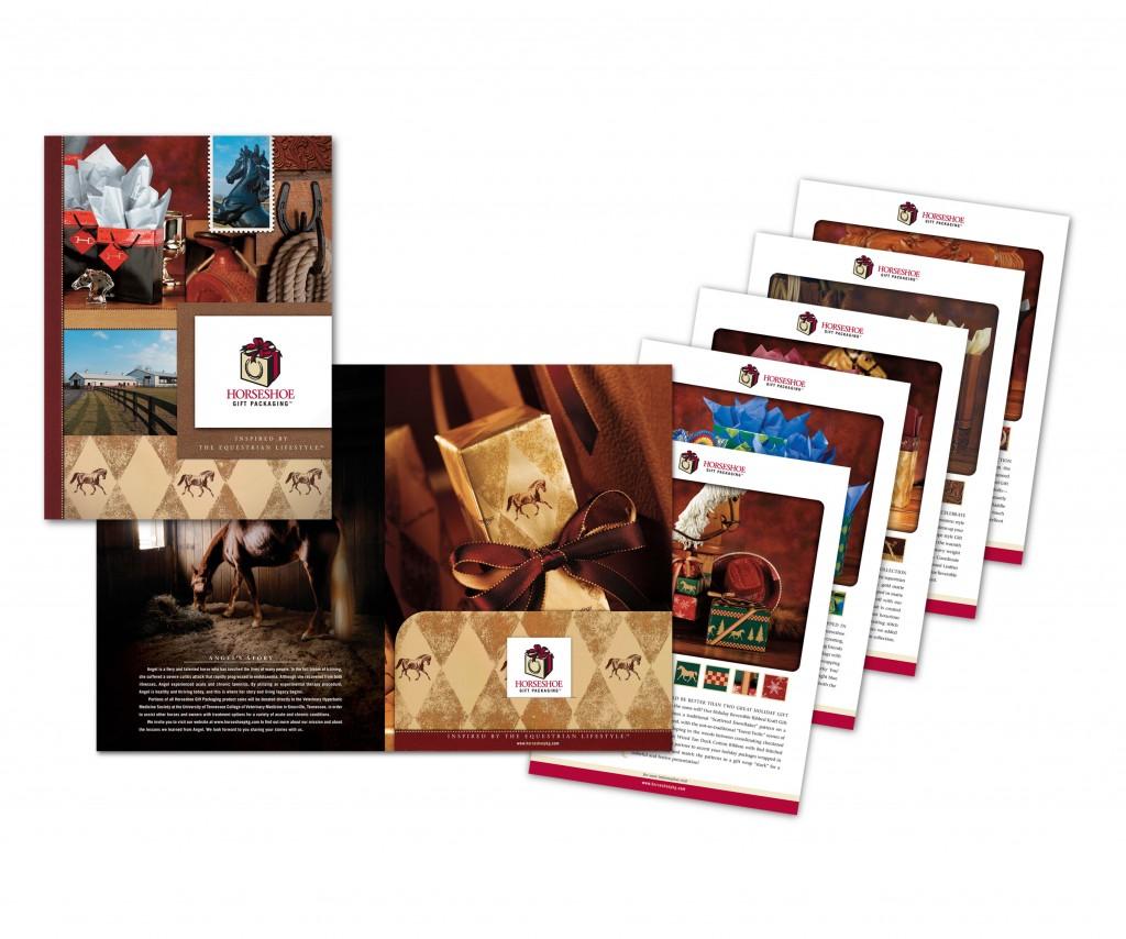 Horseshoe gift packaging Folder