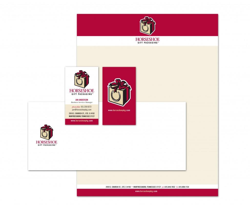 Horseshoe gift packaging stationery