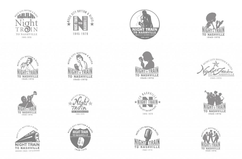 Night Train To Nashville Logo Development