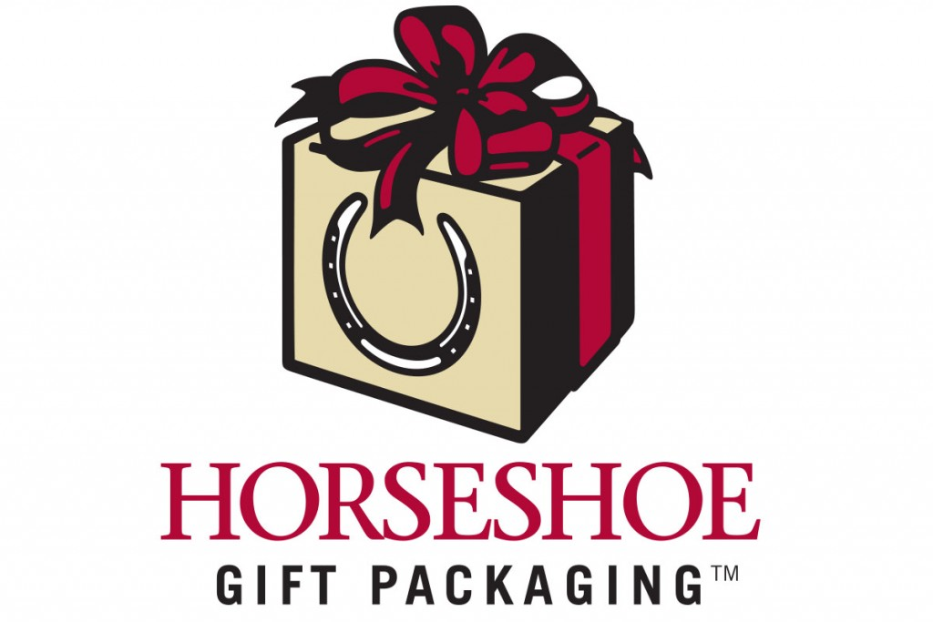 horseshoe gift packaging logo